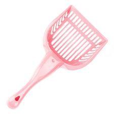 Coral Cat Litter Scoop with Reinforced Comfort Handle ACSP-004