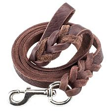 6-foot Braided Leather Dog Leash ALSH-101