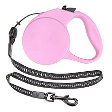 10-foot Pink Extra-Small Retractable Dog Leash ALSH-001