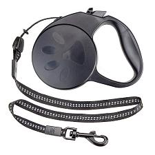 10-foot Black Extra-Small Retractable Dog Leash ALSH-002