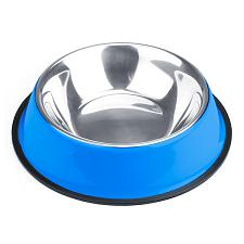 24oz. Blue Stainless Steel Dog Bowl ABWL-104