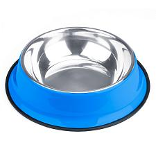 72oz. Blue Stainless Steel Dog Bowl ABWL-106