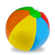 "24"" Six-Color Beach Ball SBEA-103"
