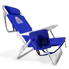 4-Position Folding Beach Chair, Blue SBEA-502