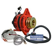 "Balmar Alternator 1-2"" Single Foot Dual V Pulley Regulator &"