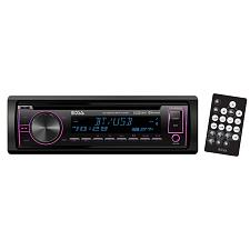 Boss Single Din Cd/Mp3 Receivermulti-Color Display Bluetooth Usb
