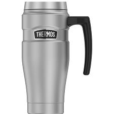 Thermos 16oz Stainless Steel Travel Mug - Matte Steel - 7 Hours