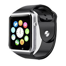 Style Asia Touch Screen Bluetooth Enabled Smart Watch - Black Matte Finish