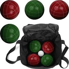 Trademark GamesT Full Size Premium Bocce Set with Easy Carry