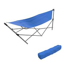 Stalwart Portable Hammock with Frame Stand and Carrying Bag - Bl