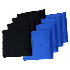 Black and Blue Cornhole Bags, Set of 8