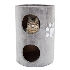 Cat Condo 2 Story Double hole with scratching surface 14in diame