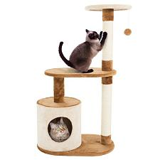 Cat Tree Condo 3 tier 37.5in high with condo and scratching post