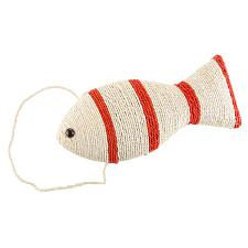 Cat Scratching Toy - fish shaped with hanger 15x6.5x3 by Petmake