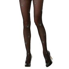 Black Spiderweb Sheer Mid Rise Costume Tights MCOS-321