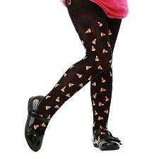 Black Candy Corn Costume Tights, L MCOS-205L