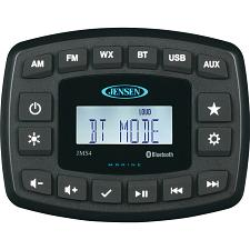 "JENSEN 4"" JMS4RTL Waterproof Bluetooth AM/FM/WB/USB Stereo - Bla"