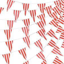 100 Foot Pennant Banner, Red & White Stripe MPAR-104