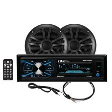 Boss Audio MCBK634B.6 Package w/MR634UAB, 2-MR6B Speakers &