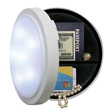 Wireless Closet Light with Concealed Safe 8 Inch Diameter