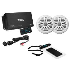 Boss Audio ASK902B.6 Package w/4-Channel Bluetooth Amplifier w/R