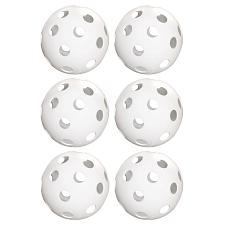 "6-Pack of 12"" Practice Softballs, White SSFT-001"