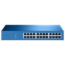 Aigean 24-Port Network Switch - Desk or Rack Mountable - 100-240VAC - 50/60Hz