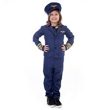Airline Pilot Halloween Costume - Kids Unisex, Small MCOS-436YS