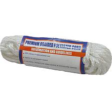 "Sea-Dog Solid Braid Polyester Cord Hank - 5/32"" x 50' - White"