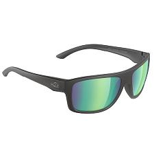 H2Optix Grayton Sunglasses Matt Black, Brown Green Flash Mirror Lens Cat. 3 - AR