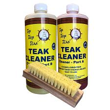Tip Top Teak Cleaner Kit Part A & Part B w/Brush