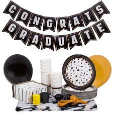 Graduation Decoration Kit, Black and Gold MGRD-001