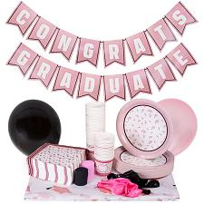 Rose Gold Graduation Party Supplies | Decoration Kit MGRD-002
