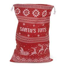 Santa's Toy Bag - Reusable Christmas Gift Bag MBAG-002
