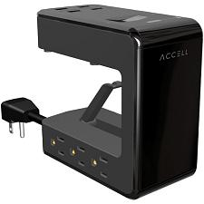 Accell D080B-045B Power U Power Station With Surge Protection, 6-Foot Cord (Blac