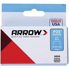 "Arrow 224 Plier Staples, 5,000 Pk (1/4"")"