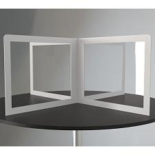 No Brand Xss60 4-Way Circle Or Square Desk Divider (60-Inch X 24-Inch)
