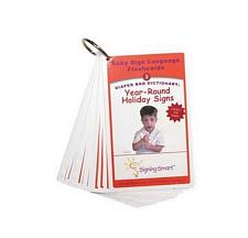 Signing Smart Diaper Bag Flashcards: Year Round Holiday Signs 7597