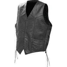 Rocky Mountain Hide Solid Genuine Buffalo Leather Vest-2X