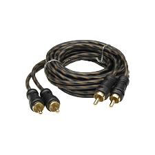 Audiopipe 24Kt Gold Plated Interconnect Cable 3Ft