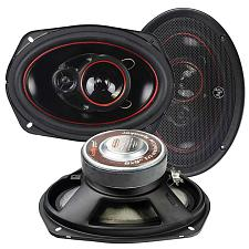"Audiopipe Redline Speaker 6X9"" 3-Way (Pair) 400 Watt Pp Cone"