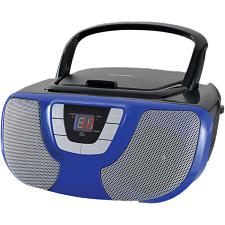Sylvania Srcd1025-Blue Portable Cd Radio Boom Box (Blue)