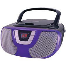 Sylvania Srcd1025-Purple Portable Cd Radio Boom Box (Purple)