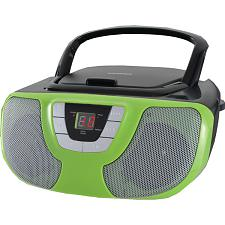 Sylvania Srcd1025-Teal Portable Cd Radio Boom Box (Teal)