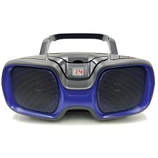 Sylvania Srcd1037Bt-Black/Blue Bluetooth Portable Cd Am/Fm Radio Boombox (Blue)