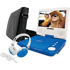 "Sylvania Sdvd7060-Combo-Blue 7"" Swivel-Screen Portable Dvd Playe"
