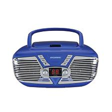Sylvania Srcd211-Blue Retro Portable Cd Radio Boombox (Blue)