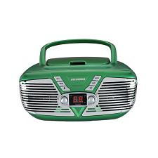 Sylvania Srcd211-Green Retro Portable Cd Radio Boombox (Green)