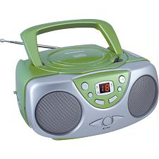 Sylvania Srcd243M Green Portable Cd Radio Boom Box (Green)