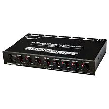 Audiodrift 4 Band Graphic Equalizer With Subwoofer Output Dual Color Illuminatio